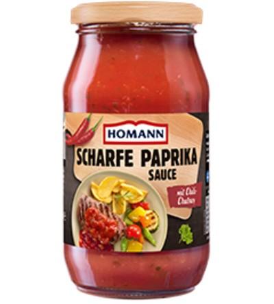 Homann Scharfe Paprika Sauce mit Chili Chutney 500ml