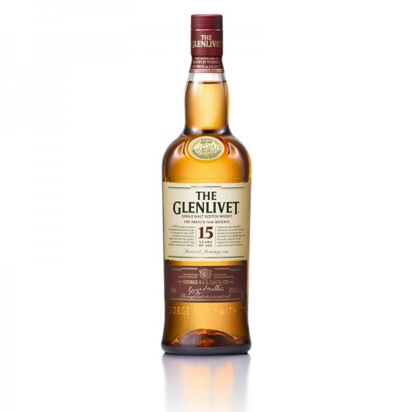 The Glenlivet Single Malt Scotch Whisky 15 years of age 40% 0,7L