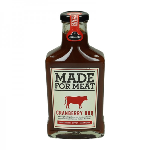 Kühne Made for Meat Cranberry BBQ Sauce 375ml