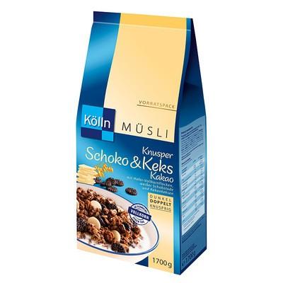 Kölln Müsli Knusper Schoko & Keks Kakao 1,7kg