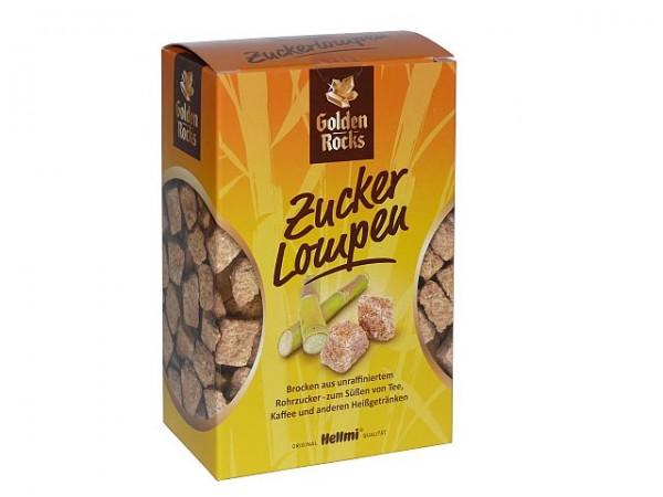 Golden Rocks Zucker Lompen Würfelzucker Rohrzucker 500g
