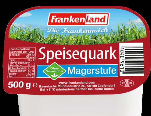FrankenLand Speisequark Magerstufe 0,2% 500g