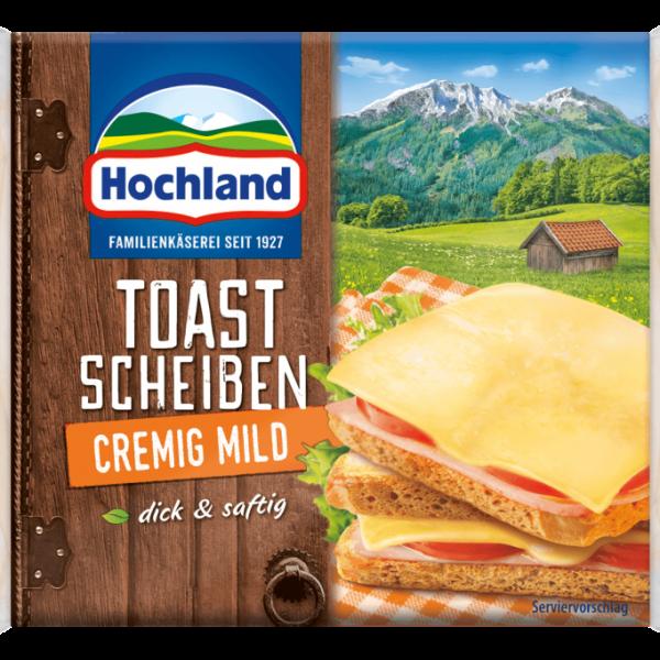 Hochland Schmelzkäse Toast Scheiben Cremig-Mild 200g