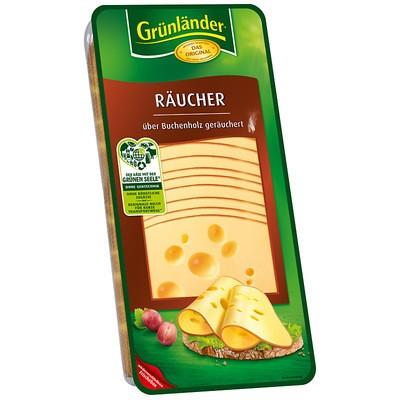 Grünländer Räucherkäse Scheiben 48% 500g