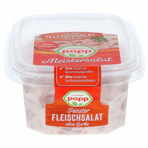 Popp Feinster Fleischsalat ohne Gurke 200g