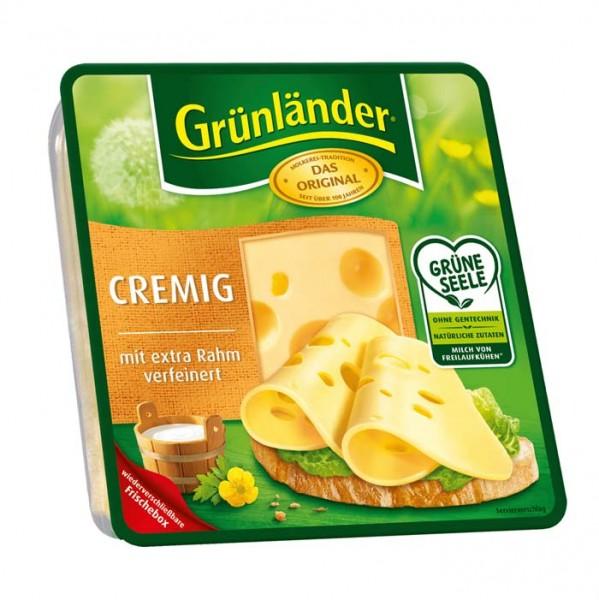 Grünländer Cremig mit extra Rahm Käse in Scheiben 130g