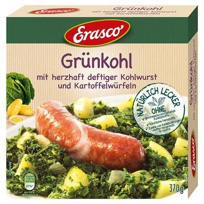 Erasco Grünkohl mit herzhaft deftiger Kohlwurst und Kartoffelwürfeln 370g