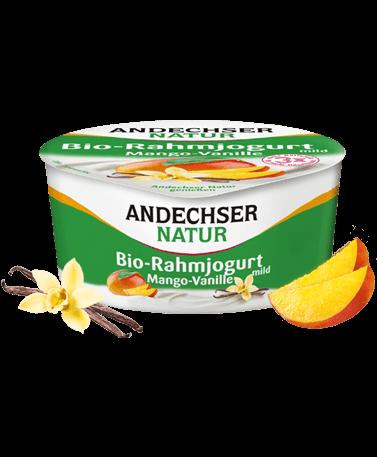 Andechser Bio Rahmjogurt Mango-Vanille 10% 150g