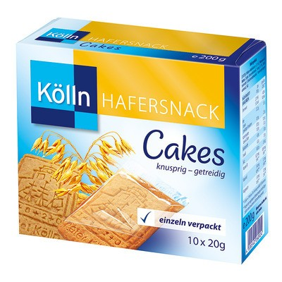 Kölln Cakes Hafersnack 10x20g