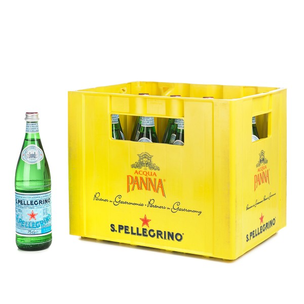San Pellegrino Mineralwasser 16x 0,75L