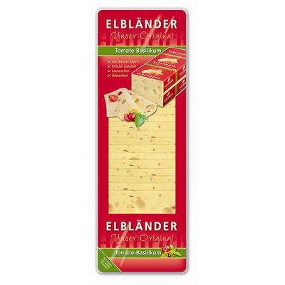 Elbländer Käse Tomate-Basilikum in Scheiben 45% 500g