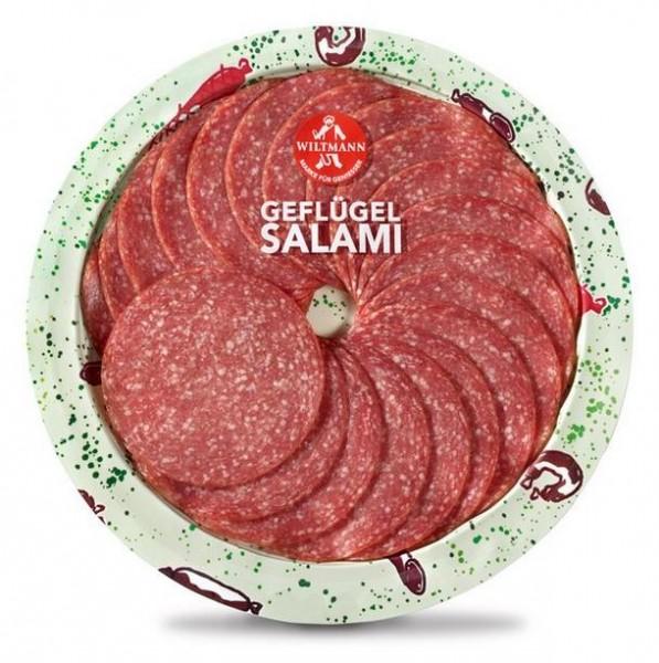 Wiltmann Geflügel Salami mit Schweinespeck 80g