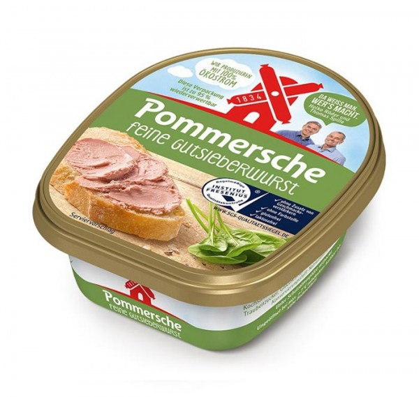 Rügenwalder Pommersche Feine Gutsleberwurst 125g