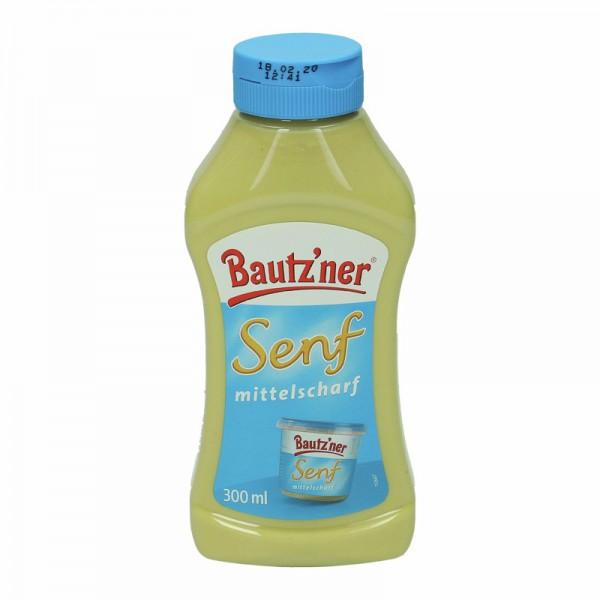 Bautz`ner Senf mittelscharf 300ml