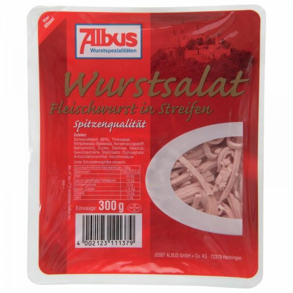 Albus Wurstsalat Fleischwurst in Streifen 300g