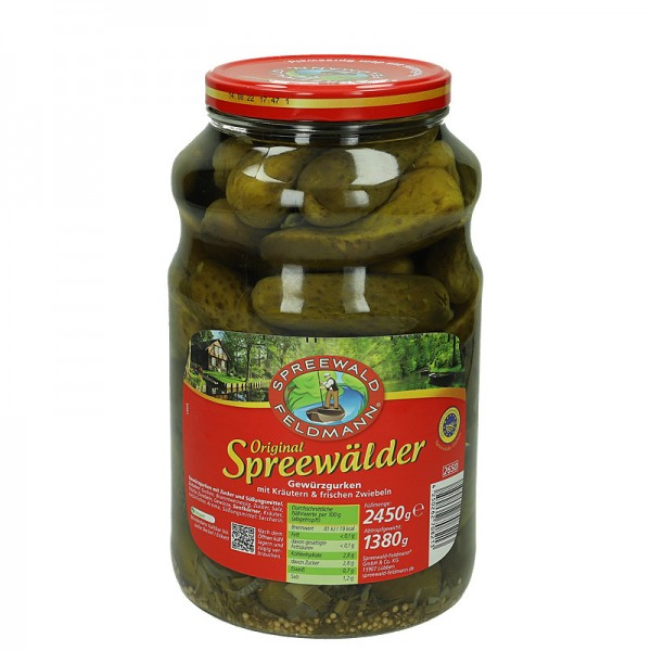 Spreewald Feldmann Original Spreewälder Gewürzgurken 2450g