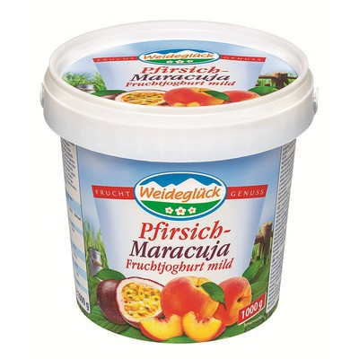 Weideglück Fruchtjoghurt Pfirsich-Maracuja 3,5% 1kg