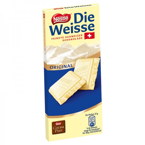 Nestlé die Weisse Schokolade 100g