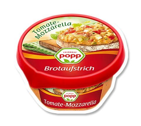 Popp Brotaufstrich Tomate Mozzarella 150g