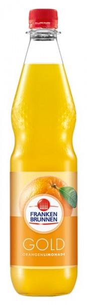 Franken Brunnen Gold Orangen Limonade Einzelflasche 0,75L PET