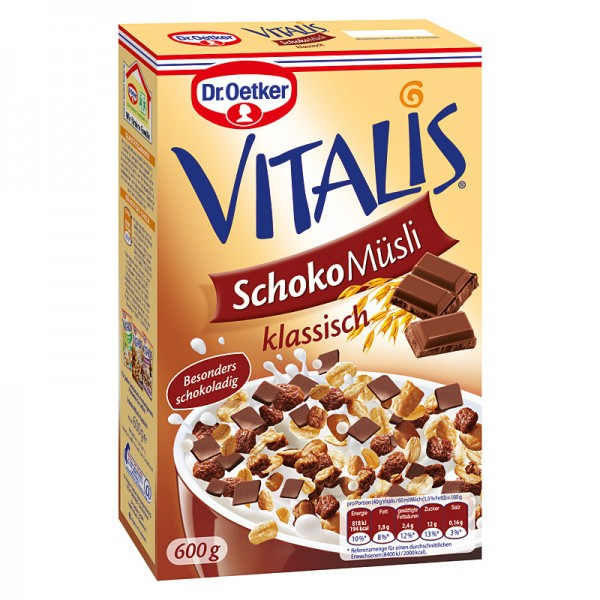 Dr. Oetker Müsli Schoko Vitalis 600 g