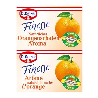 Dr. Oetker Finesse Orangenschale gerieben, 2er, 12g