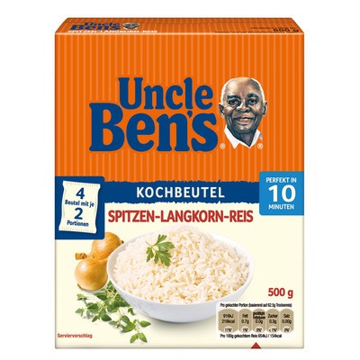 Uncle Ben's Spitzen Langkorn Reis im Kochbeutel 500g