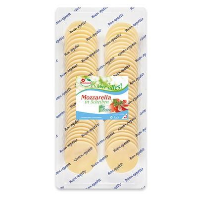Weideglück Mozzarella in Scheiben 40% 500g