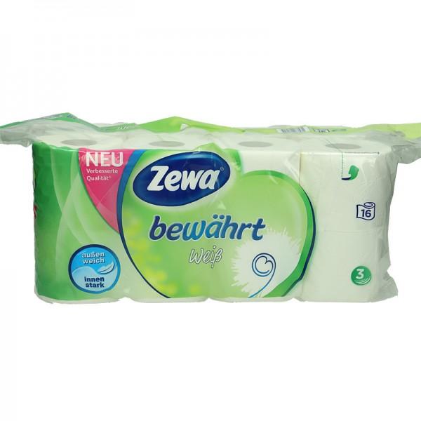 Zewa Toilettenpapier Bewährt weiß 3-lagig XL 16x150 Blatt