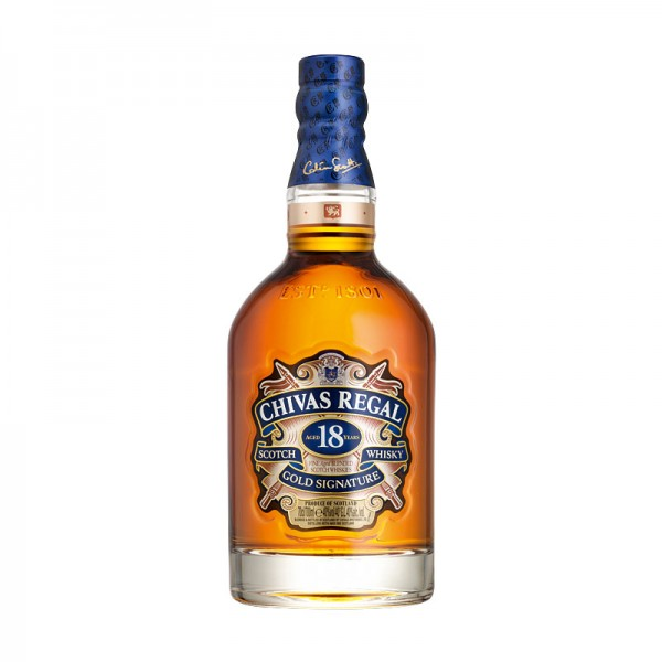 Chivas Regal Scotch Whisky aged 18 years Gold Signature 40% 0,7L