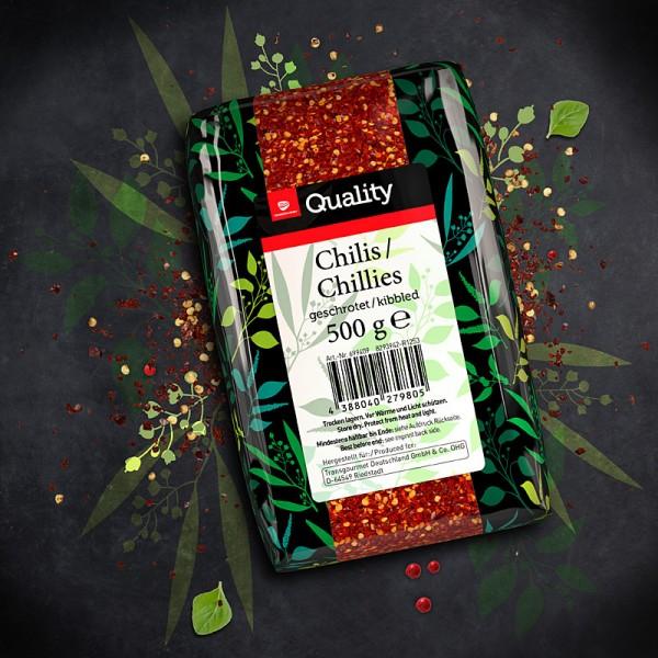 Chilis geschrotet 500g