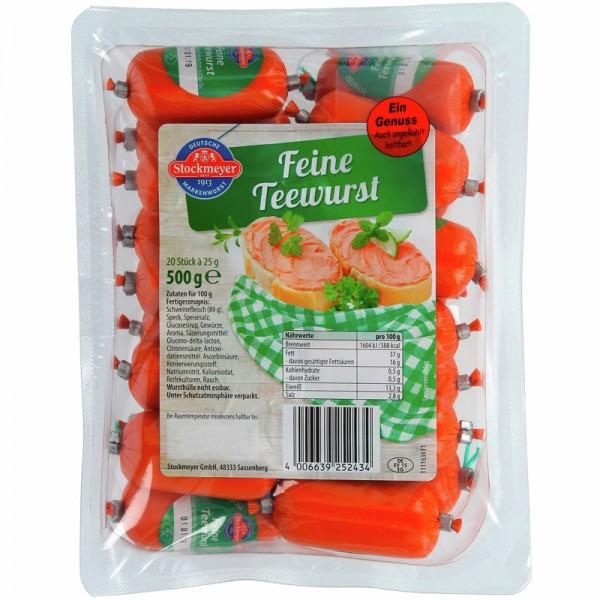 Feine Teewurst von Stockmeyer 20 Stück a 25g
