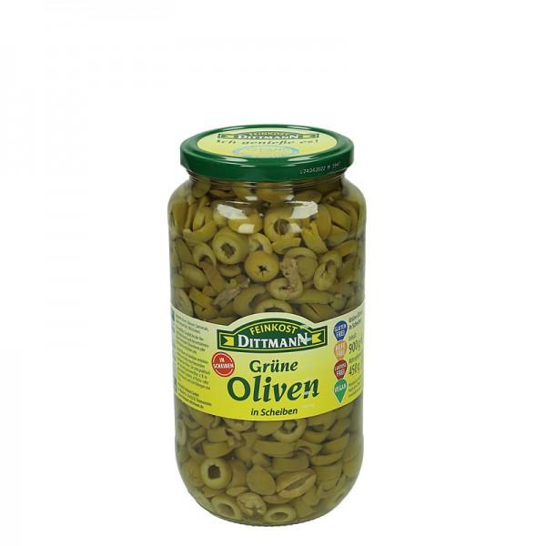 Dittmann Grüne Oliven in Scheiben 900g