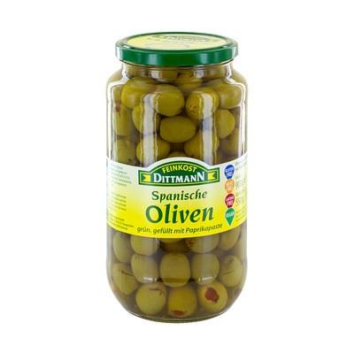 Dittmann Spanische Oliven grün mit Paprikapaste 935ml