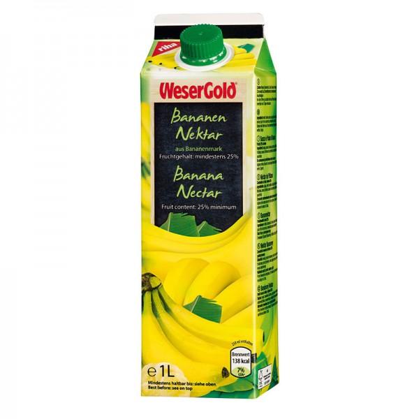 Weser Gold Bananennektar 25% 1L