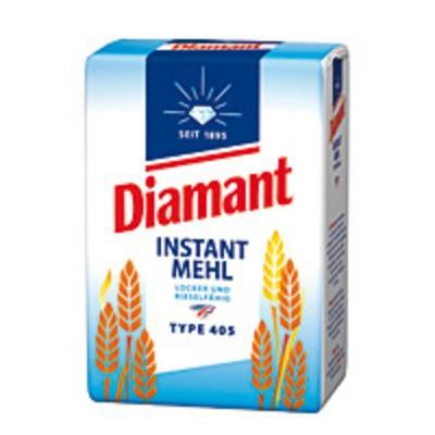 Diamant Instant Mehl Besonders locker und rieselfähig Type 405 1kg