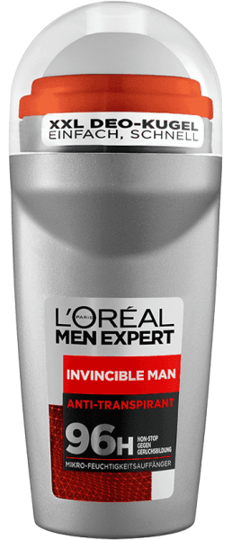 Loreal MEN Deo Roll-On Invincible Man, 96H, 50ml