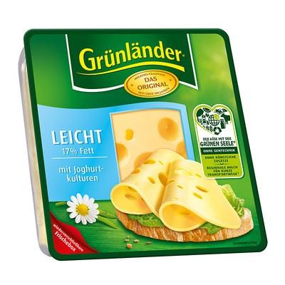 Grünländer Leicht Käse in Scheiben 30% 150g