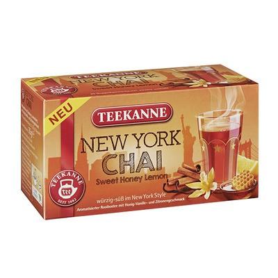 Teekanne New York Chai Tee aromatisiert mit Honig- Vanille- Zitronengeschmack 20x1,75g
