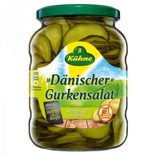 Kühne Dänischer Gurkensalat würzig-süß in Scheiben 720ml