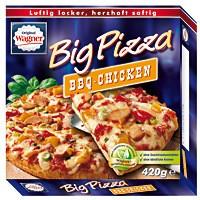 Original Wagner Big Pizza BBQ Chicken 420g