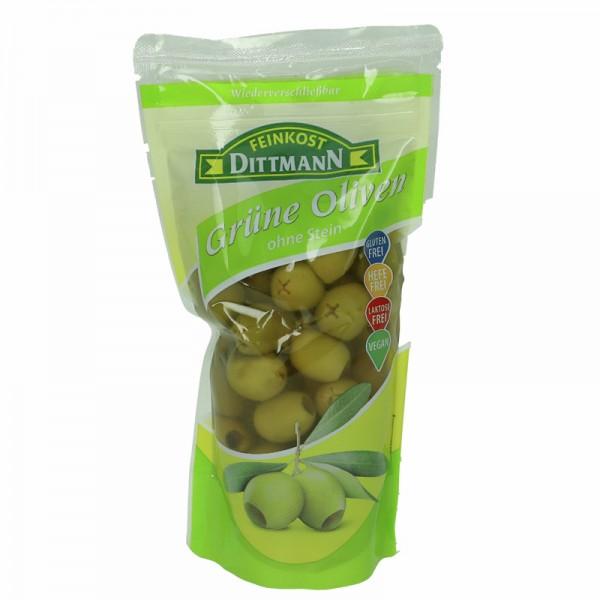 Dittmann Grüne Oliven ohne Stein 250g