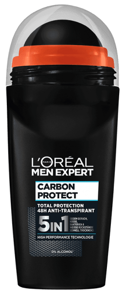 Loreal MEN Deo Roll-On Carbon Protect, 5 in 1, 50ml
