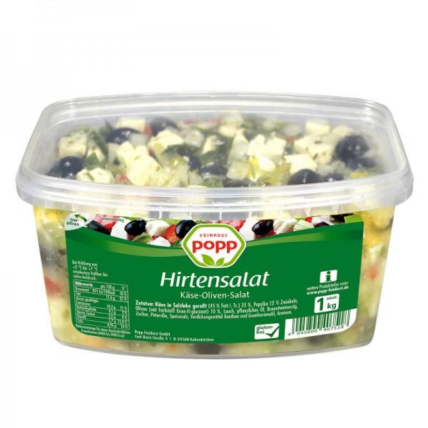 Popp Hirtensalat Käse-Oliven Salat XL 1kg