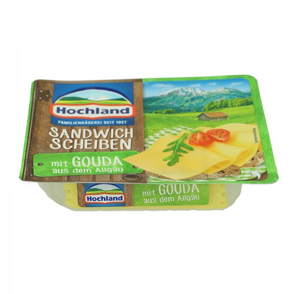 Hochland Sandwich Scheiben mit Gouda aus dem Allgäu 150g