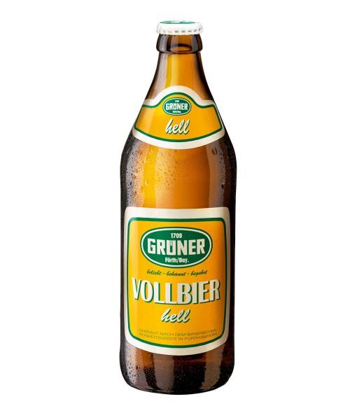 Grüner Vollbier Helles Bier als Einzelflasche 0,5l