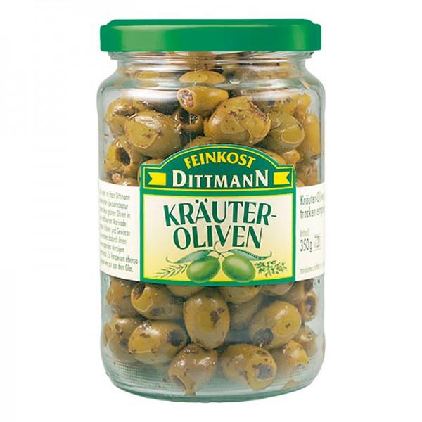 Dittmann Kräuter Oliven grün trocken eingelegt 720ml