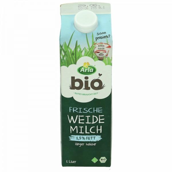 Arla Bio Frische Weidemilch, 1,5 % Fett, 1L