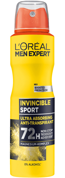 Loreal MEN Deo Spray Invincible Sport, 72h, 150ml