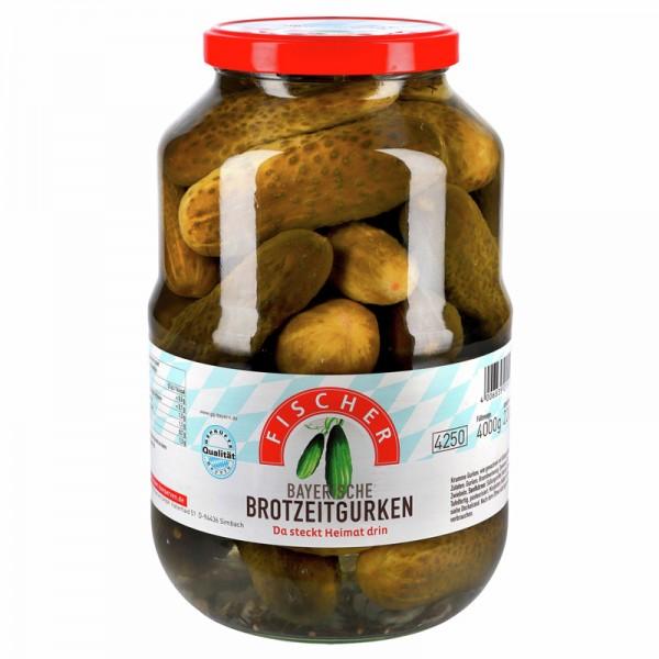 Fischer Bayerische Brotzeitgurken im Glas XXL 4250ml